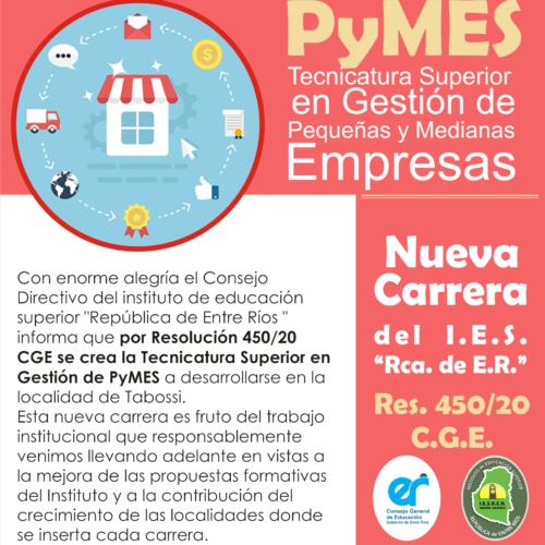 El CGE aprobó la apertura de la Tecnicatura en PYMES